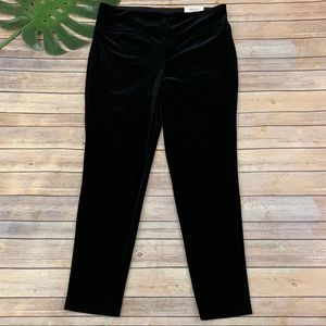Soma Smoothing Velvet black stretch legging